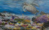 48 x 30 sea turtle painting