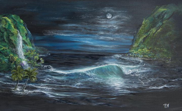 Tropical moonlight - Tyson environmental art