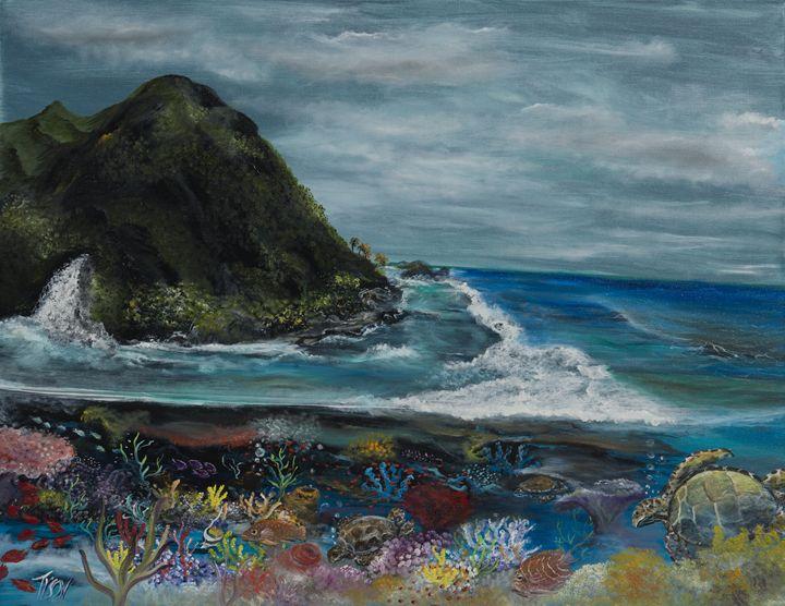 Curious sea turtles - Tyson environmental art