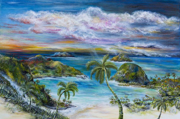 Tahitian resort - Tyson environmental art