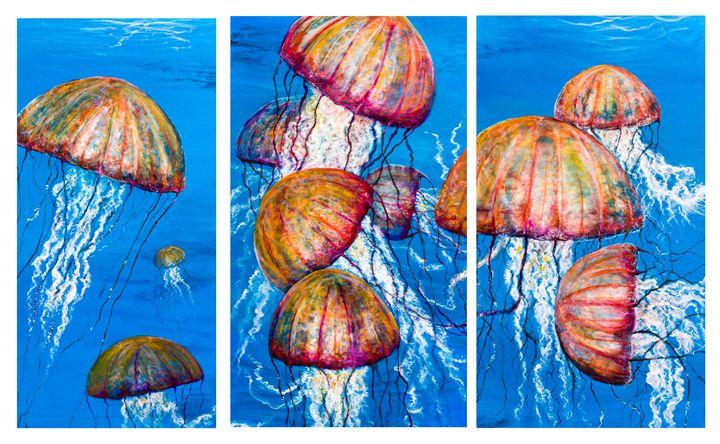 Triple medusa - Tyson environmental art