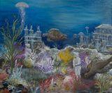 24 x 20 undersea painting