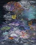 24 x 30 coral reef painting