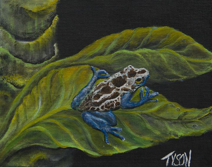 Poison dart frog - Tyson environmental art