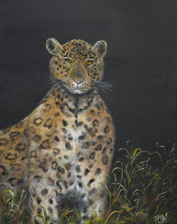 Leopard stare - Tyson environmental art