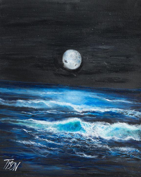 Blue moon - Tyson environmental art