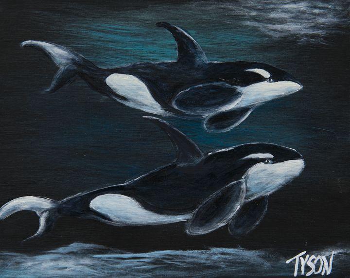 Orcas - Tyson environmental art