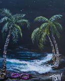 8 x 10 palm tree beach painting