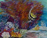 8 x 10  saltwater fish painting