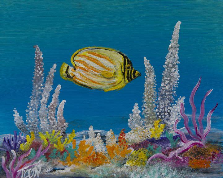 Ornate butterfly fish - Tyson environmental art