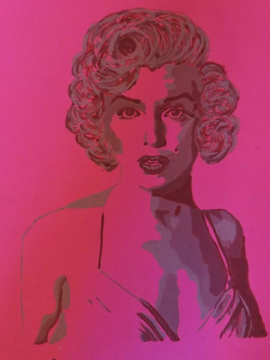 Marilyn Monroe Painting /Divine - Amber McDowell