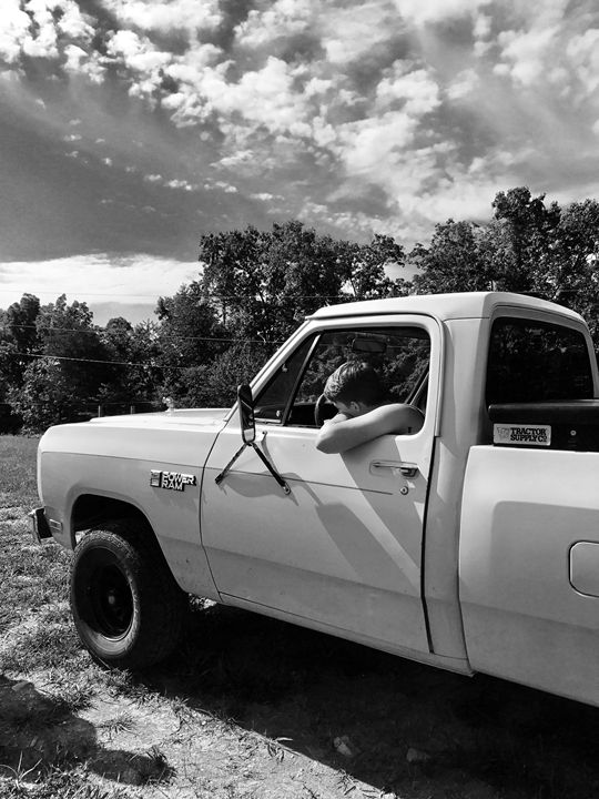 A boy and his truck - Rose Hill
