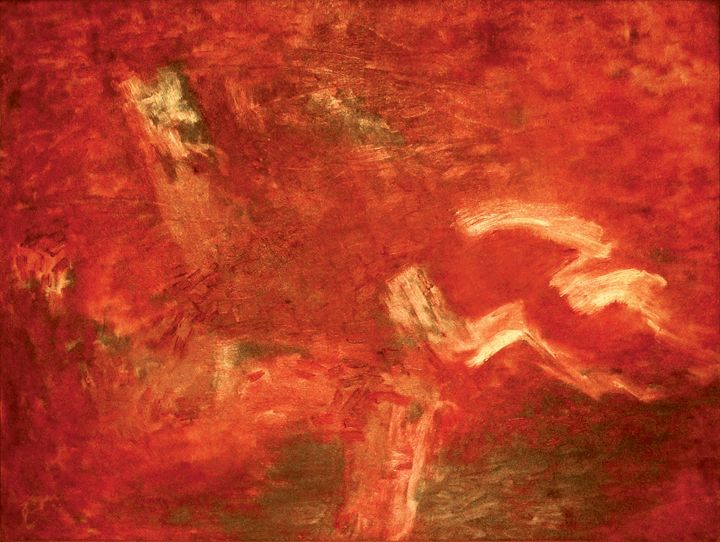 Home Red Abstract - Deepak Shinde