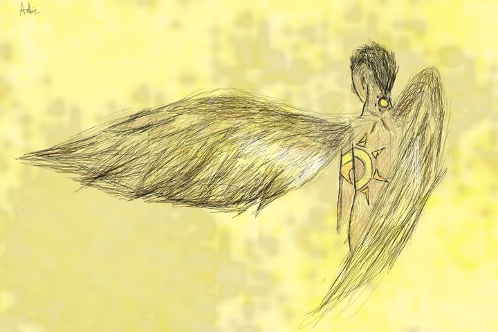 Winged man - Doodle Moose