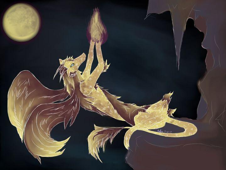 Sunset dragon - Doodle Moose