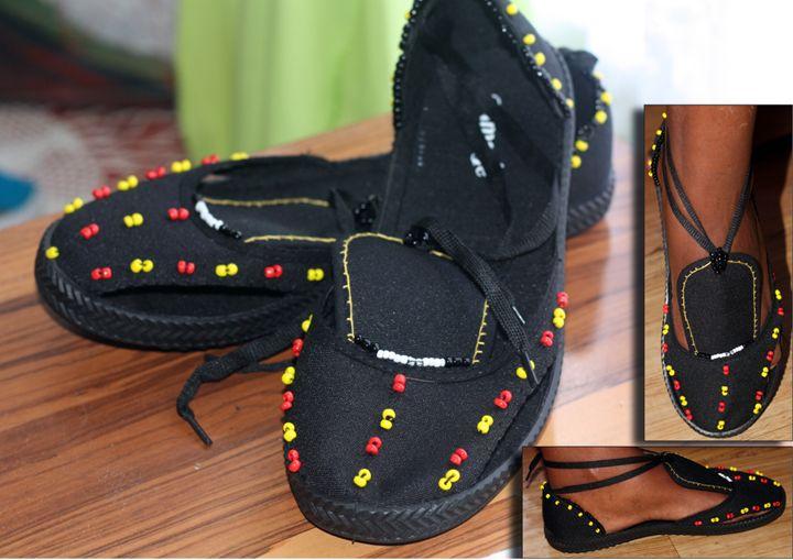 Beaded shoes1 - Dandelion Art