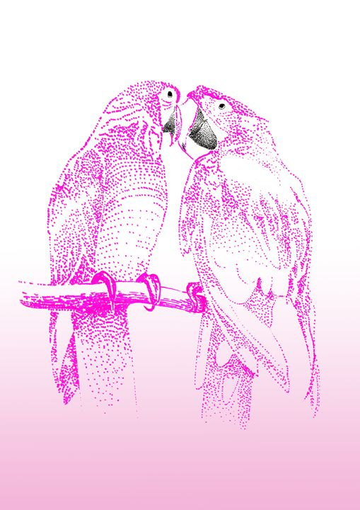 Pink Parrots - Feel Good Creations