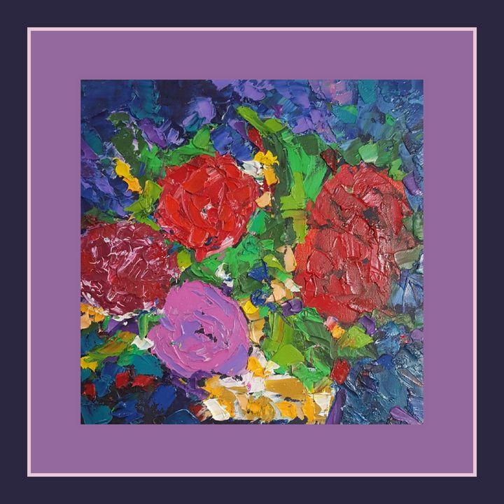 Les roses en bleu - Zuraka