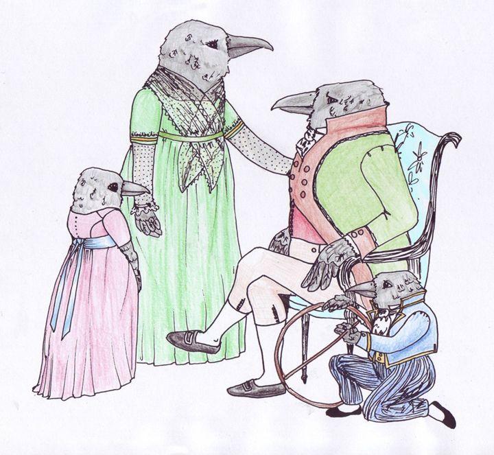 The Corvid Family - Feffie's Cottage