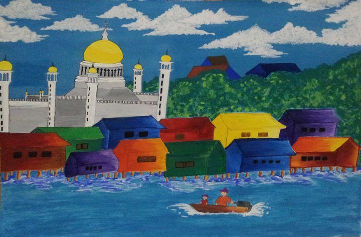 LIFE IN THE WATER VILLAGE - Crescentius Artworks