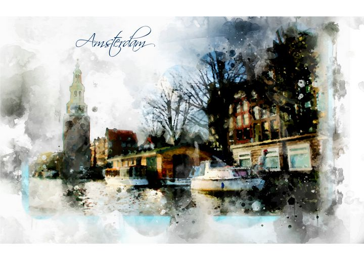 City Life In Watercolor Style - Ariadna-art