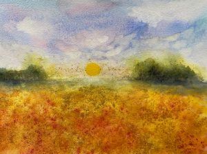 Golden Poppies Fields - Simpson Art
