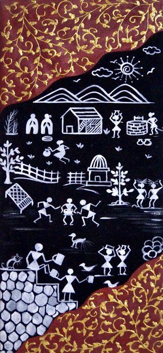 Indian Warli Artpiece - Manas Mradul