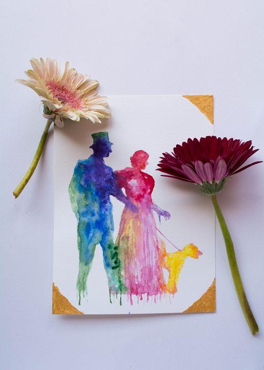 The Thin Man - silhouettes - Drawvintage