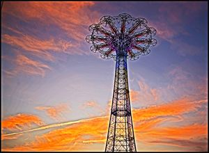 Iconic Coney Island Parachute Ride