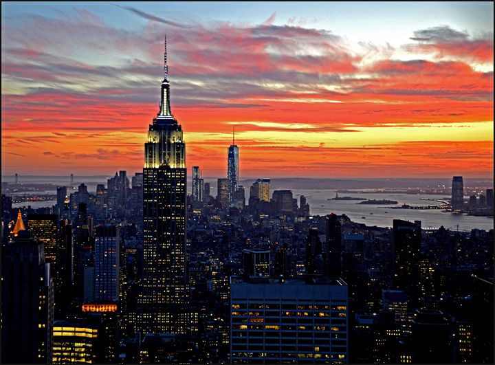 Manhattan Sunset - AllanE Photography