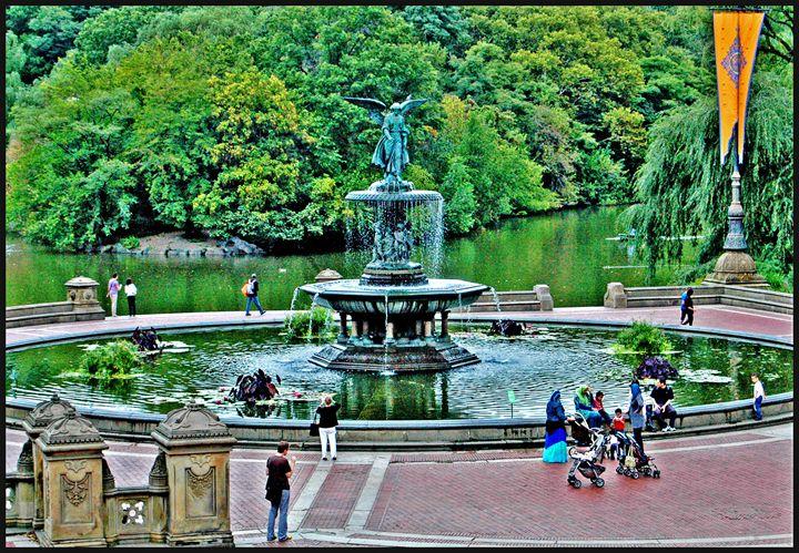Bethesda Fountain, Central Park,NYC - AllanE Photography