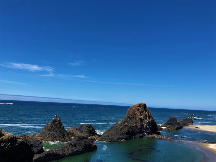 The Rocks at Seal Rock, Oregon - A.M. Stearns