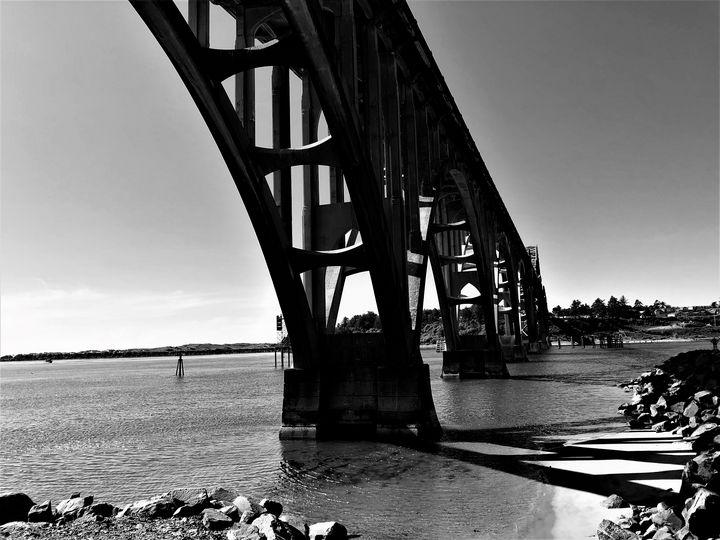 Bridge at Yaquina Bay, Newport, OR - A.M. Stearns