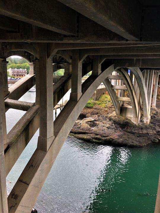 Under the Bridge in Depoe Bay - A.M. Stearns