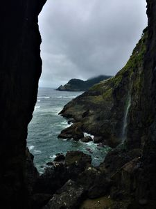 Looking out from Sea Lion Caves