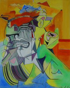 D'après femme qui pleure de Picasso