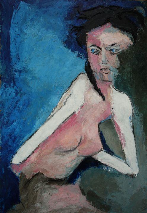 femme à la tresse noire - leblais bruno
