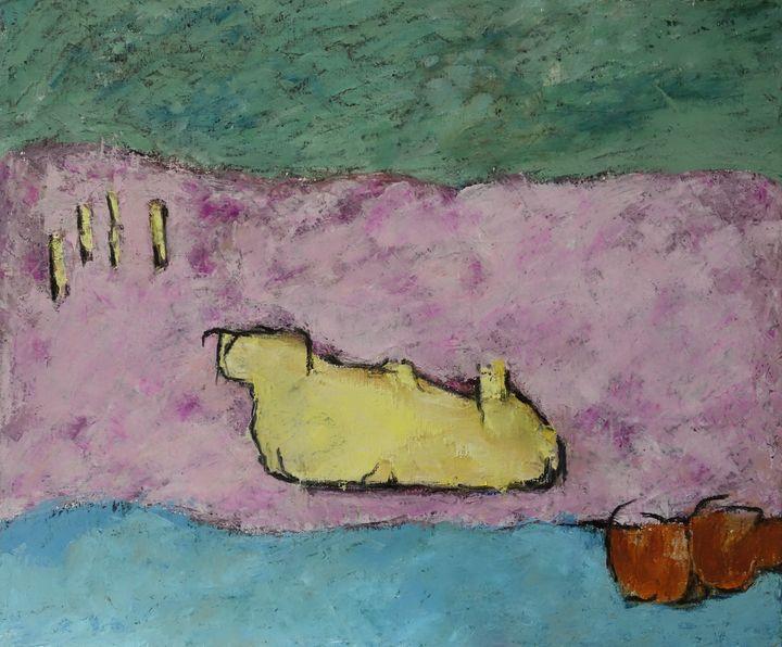 Rocher sur le Belon - leblais bruno