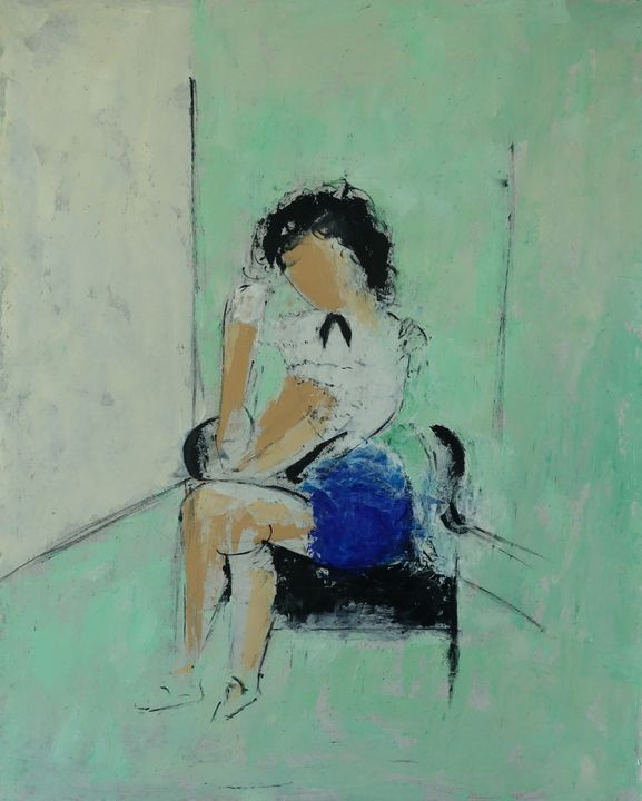 femme assise - leblais bruno