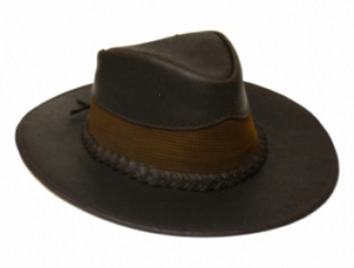 100% Pure Colombian Leather Hat - PilillaStand