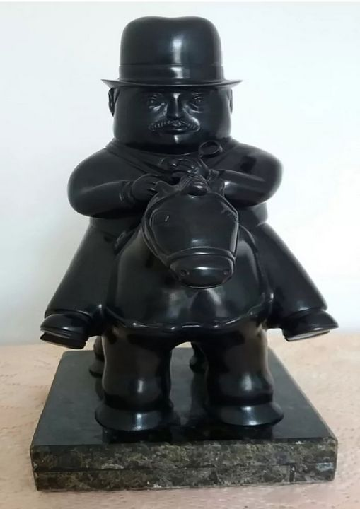 Peter on Horse from Fernando Botero - PilillaStand