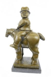Handmade MAN ON HORSE from Botero