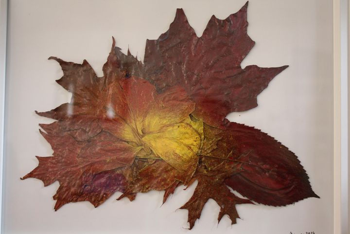 Yellow Heart in Red - New England Leaves