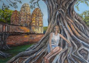 Sukhothai: The girl on the tree