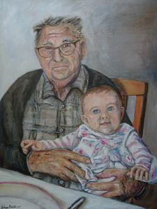 Alice et son grand Papi