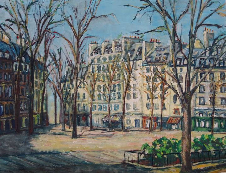 Paris, place Dauphine - Sylvain Bataillé
