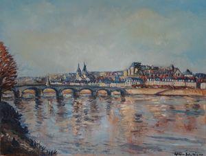 La Loire à Blois en hiver