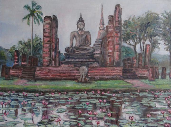 Buddha in Sukhothai - Sylvain Bataillé