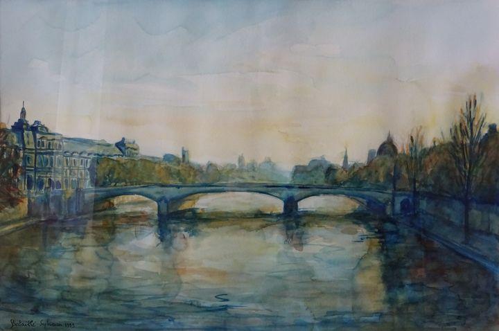 Paris, la Seine et le pont du Louvre - Sylvain Bataillé