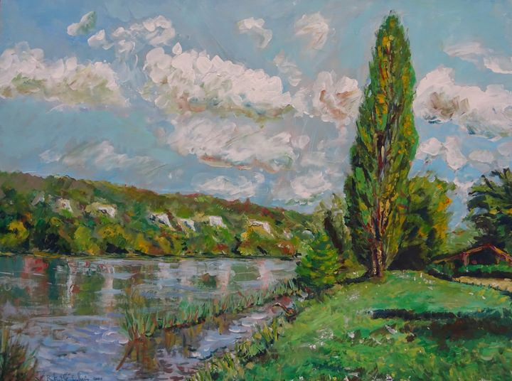 France, la Seine près de Vetheuil - Sylvain Bataillé